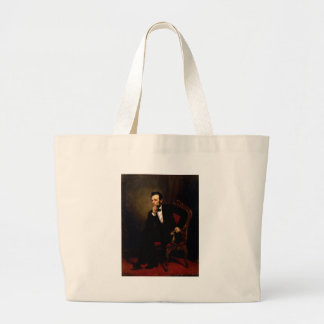 Abraham Lincoln by George Peter Alexander Healy Large Tote Bag