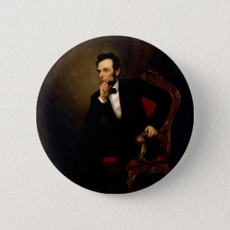 Abraham Lincoln by George Peter Alexander Healy Pinback Button