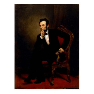 Abraham Lincoln by George Peter Alexander Healy Postcard