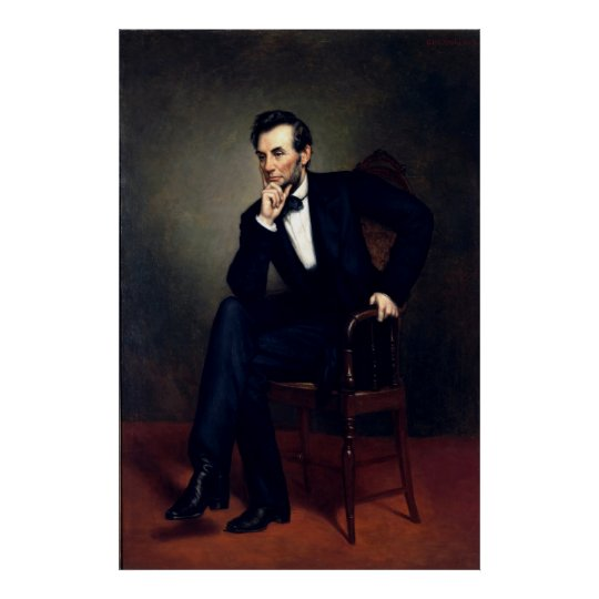 ABRAHAM LINCOLN by George Peter Alexander Healy Poster