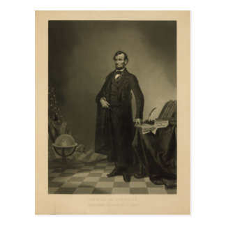 Abraham Lincoln by William Pate Postcard