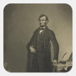 Abraham Lincoln by William Pate Square Sticker