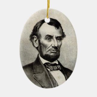 Abraham Lincoln Ceramic Ornament