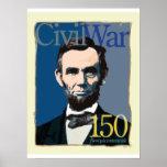 Abraham Lincoln Civil War 150th Anniversary Poster