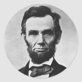 ABRAHAM LINCOLN CLASSIC ROUND STICKER