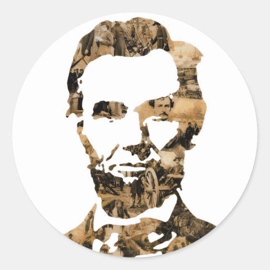Abraham Lincoln Classic Round Sticker