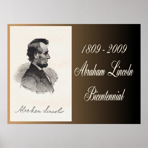 "Abraham Lincoln Commemorati bicentenario 40"" x30 "" Impresiones"