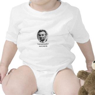 Abraham Lincoln con cita Trajes De Bebé