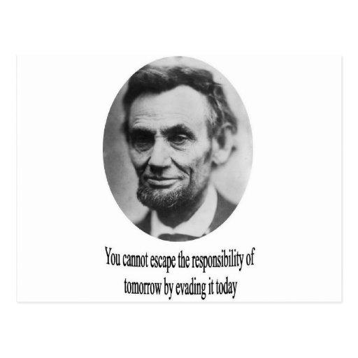 Abraham Lincoln con cita Tarjetas Postales