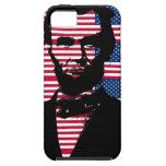 Abraham Lincoln con las banderas americanas iPhone 5 Case-Mate Coberturas