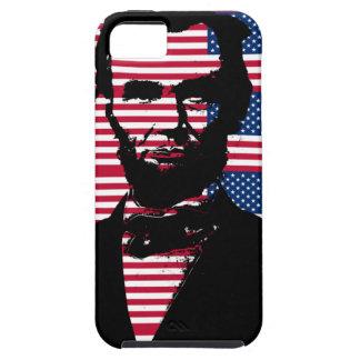 Abraham Lincoln con las banderas americanas Funda Para iPhone SE/5/5s
