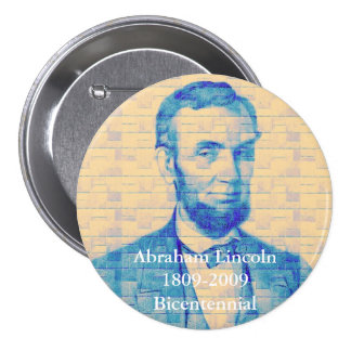 Abraham Lincoln conmemorativo Pin Redondo De 3 Pulgadas