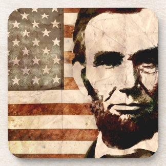 Abraham Lincoln Beverage Coasters
