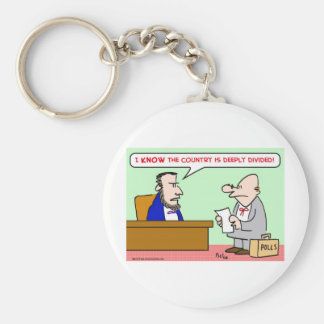 abraham lincoln country deeply divided polls keychain