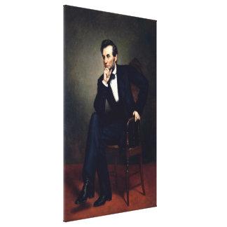 ABRAHAM LINCOLN de George Peter Alexander Healy Lienzo Envuelto Para Galerías