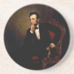 Abraham Lincoln de George Peter Alexander Healy Posavasos Diseño