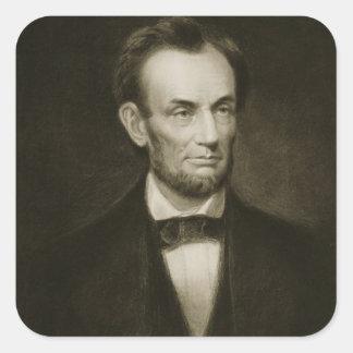 Abraham Lincoln, décimosexto presidente del Stat Calcomania Cuadrada Personalizada