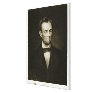Abraham Lincoln, décimosexto presidente del Stat u Lona Envuelta Para Galerías
