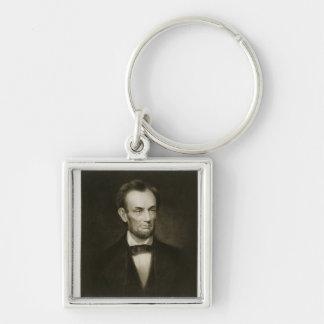 Abraham Lincoln, décimosexto presidente del Stat u Llavero Cuadrado Plateado