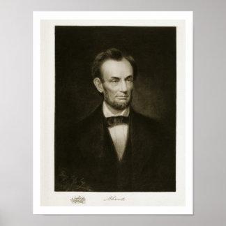 Abraham Lincoln, décimosexto presidente del Stat u Póster