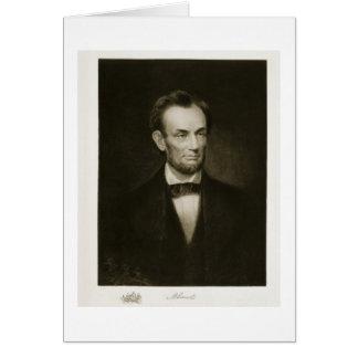 Abraham Lincoln, décimosexto presidente del Stat u Tarjeta De Felicitación