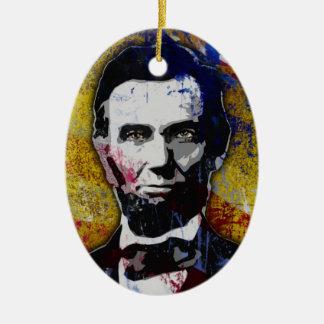 Abraham Lincoln Adorno Ovalado De Cerámica
