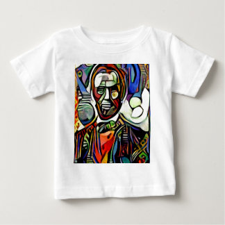 Abraham Lincoln digital colourful painting Baby T-Shirt