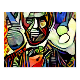 Abraham Lincoln digital colourful painting Postcard