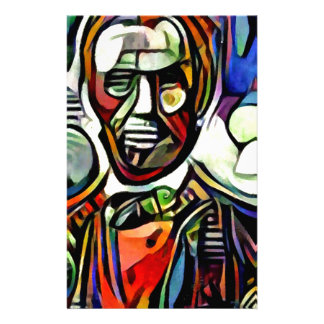 Abraham Lincoln digital colourful painting Stationery