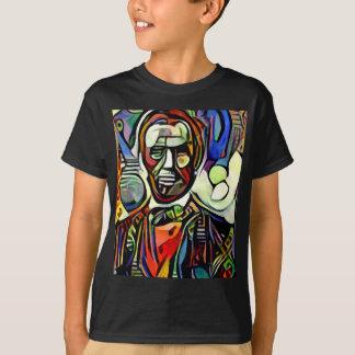 Abraham Lincoln digital colourful painting T-Shirt