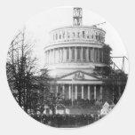 Abraham Lincoln, discurso inaugural, el 4 de marzo Pegatina Redonda