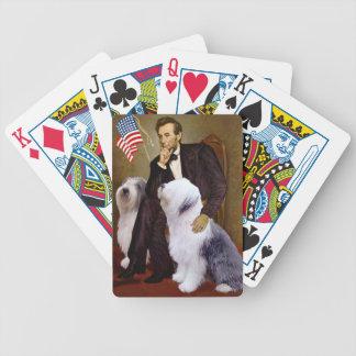Abraham Lincoln - dos perros pastor ingleses viejo Barajas