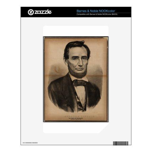 Abraham Lincoln. El presidente del mártir, asesina Calcomanía Para El NOOK Color