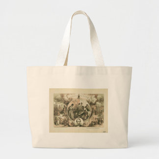Abraham Lincoln Emancipation Proclamation Collage Large Tote Bag