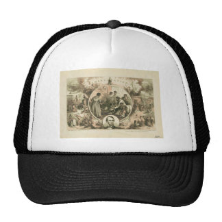 Abraham Lincoln Emancipation Proclamation Collage Trucker Hat