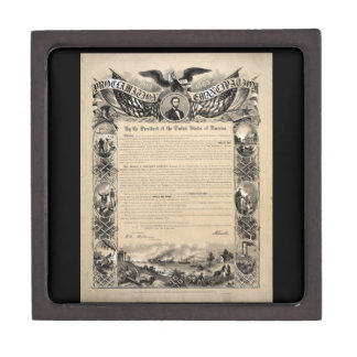 Abraham Lincoln Emancipation Proclamation Gift Box