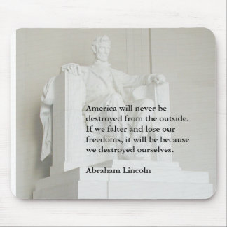 Abraham Lincoln en las amenazas extranjeras Mousep Alfombrillas De Ratones