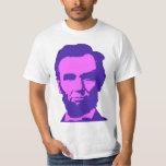 Abraham Lincoln en rosa y púrpura Playera