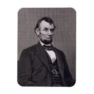 Abraham Lincoln, engraved from a photograph by Wil Rectangle Magnets