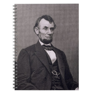 Abraham Lincoln, engraved from a photograph by Wil Spiral Notebook