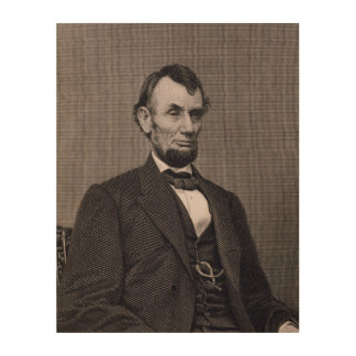 Abraham Lincoln, engraved from a photograph by Wil Wood Print