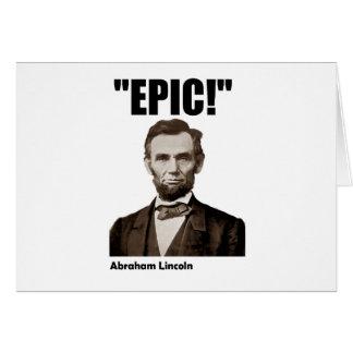 Abraham Lincoln épico Tarjetas