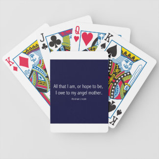 Abraham Lincoln Famous Quote in Piet Mondrian Bicycle Playing Cards