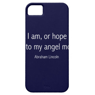 Abraham Lincoln Famous Quote in Piet Mondrian iPhone SE/5/5s Case