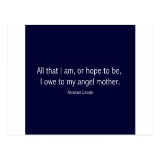 Abraham Lincoln Famous Quote in Piet Mondrian Postcard