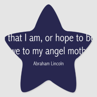 Abraham Lincoln Famous Quote in Piet Mondrian Star Sticker