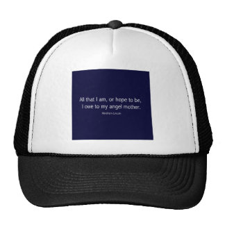 Abraham Lincoln Famous Quote in Piet Mondrian Trucker Hat