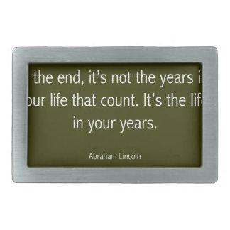 Abraham Lincoln Famous Quote, Motivational Rectangular Belt Buckle