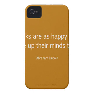 Abraham Lincoln Famous Quote  - Orance iPhone 4 Case