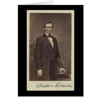 Abraham Lincoln firmó la tarjeta 1860